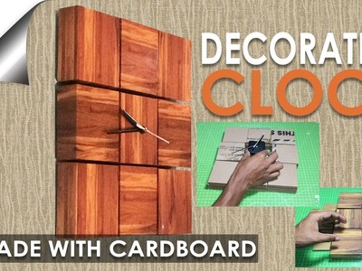 How to make a Clock From Cardboard with wooden effect