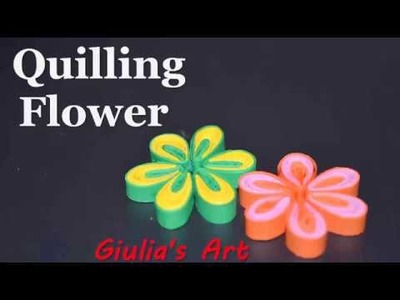 How to make a Quilling Flower, Diy paper crafts