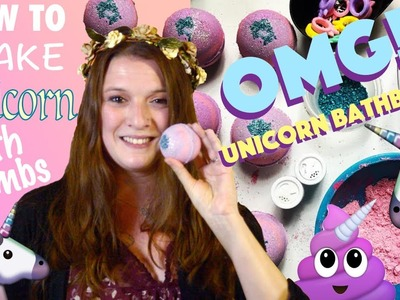 HOW TO MAKE BATH BOMBS |  DIY UNICORN BATH BOMBS ????  GYPSYFAE CREATIONS