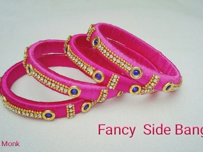 How To Make Designer Bangles. Fancy Side Bangles Making Tutorial at Home. DIY Party Wear Bangles