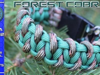 How To Make Paracord Bracelet Forest Cobra DIY with buckles