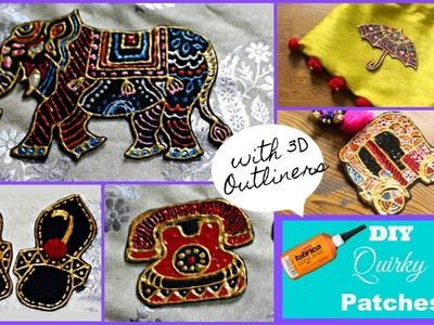 How to make Patches | Easy DIY Quirky Patches using 3D outliners | Pompoms & Tassels