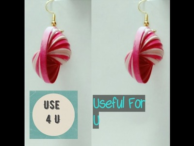 How to make quilling earrings | how to make earrings | at home | tutorial-3