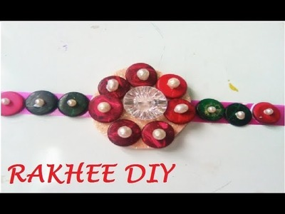 How to make Rakhee with buttons in5 minutes.Super easy DIY Rakhee