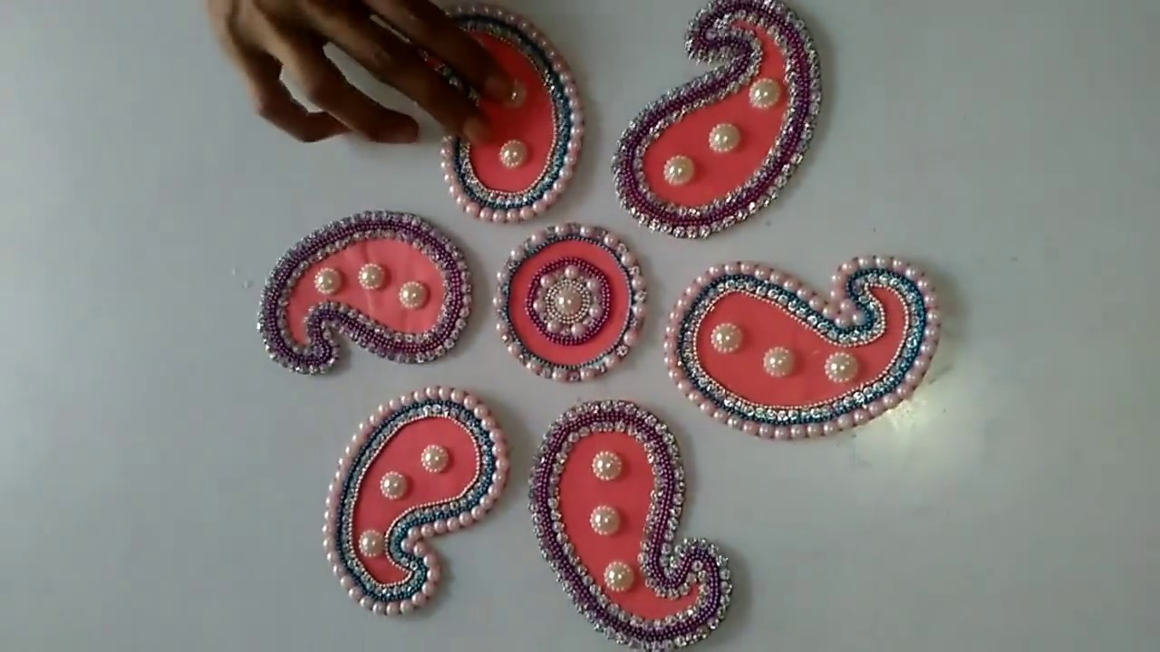 How To Make Rangoli Patches Using Cardboard Tutorial