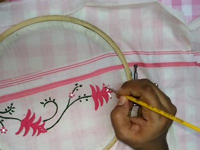 "How to Paint on ""Kerala Set Mundu"" : Tutorial - Fabric Painting"