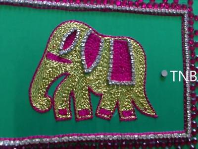 Maggam work blouse designs simple | aari work blouse designs tutorial | basic embroidery designs