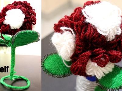 Make  Flower Plant with Wool & Wire | DIY |  Woolen Flower Dahlia