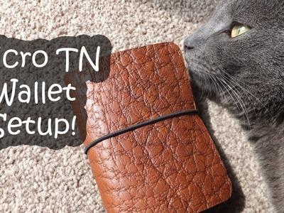 Micro Traveler's Notebook Wallet Setup | DIY and Hacks