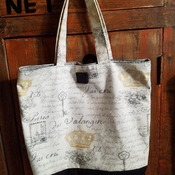 Paris Script Market Bag