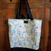 Paris Stamps Market Bag