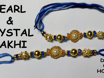Pearl & Crystal Rakhi Making at Home | DIY |  Homemade Rakhi's ||