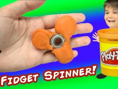 Play-Doh Fidget Spinner! HobbyScience How-To Lab + Family Fun DIY HobbyKidsTV