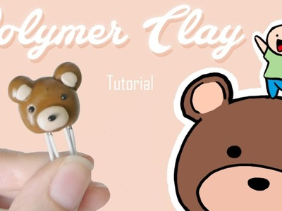 POLYMER CLAY (Tutorial easy) -  Paperclip Teddy