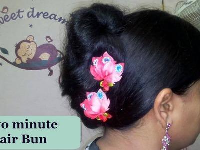 Quick easy bun for short.medium.long hair DIY at Home| bun hairstyles! for short.medium.long hair