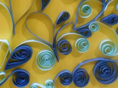 Quilling swirls card  video tutorial  quilling with hajra