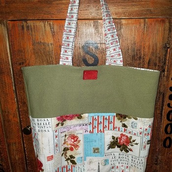 Quilted Rose Market Bag