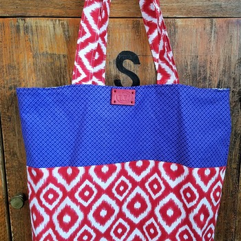 Red white and blue market bag