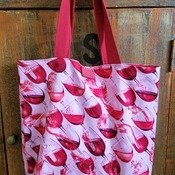 Red Wine Market Bag