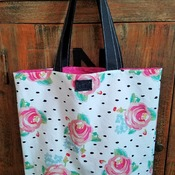 Rose Polka Dot Market Bag