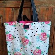 Rose Polka Dot Market Bag