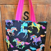 Running Horses Market Bag