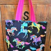 Running Horses Market Bag
