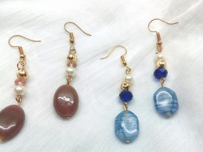 Stone Beaded Earring Tutorial | Jewellery Box
