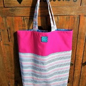 Striped Market Bag