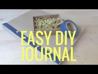 SUPER EASY & QUICK DIY JOURNAL! No sew no glue no staple!