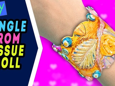 Teachers day gift ideas - Bangles.bracelet making tutorial from old tissue roll crafts