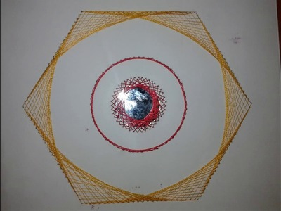 Thread Decorated Hexagone # Embroidery Tutorial