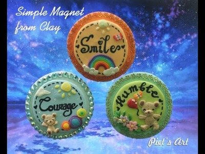 Tutorial Simple Magnet Clay for Beginner