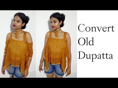 2 Min. Convert Old Dupatta into Top | No Sew | DIY