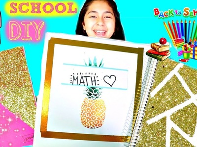 4 SCHOOL DIY'S Notebooks & Binders Easy Back to School DIY|B2cutecupcakes