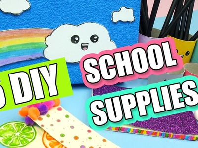 5 DIY School Supplies – Easy and Cute Back To School DIY Projects