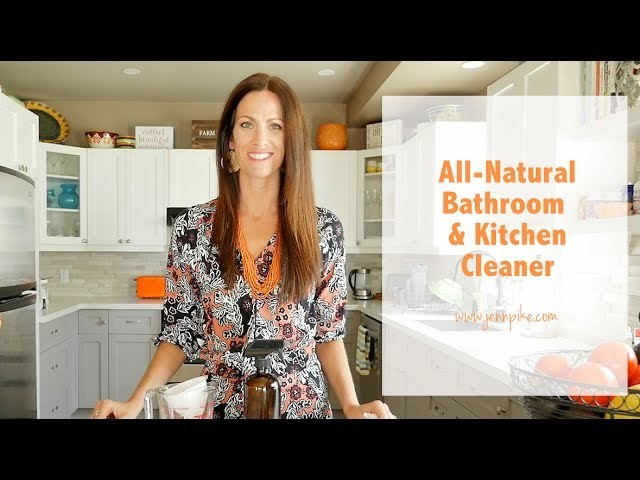 All-Natural DIY Kitchen and Bathroom Cleaner