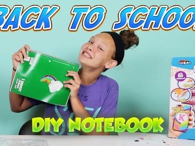 BACK TO SCHOOL DIY Notebook - 3D CraZGels Sticker Art for Custom School Supplies