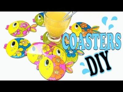 COASTERS- DIY- Bases para copos- Mixed Media