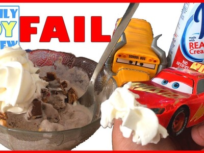 Disney Cars 3 Toys - Rust-eze RAcing Center Lightning McQueen DiY MAKES ICE CREAM for the First TIME
