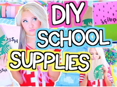 DIY BACK TO SCHOOL SUPPLIES! Notebooks, Pencil Cases, Binders 2017!
