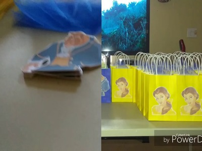 DIY Beauty and The Beast Goodie bags