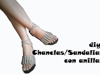 #DIY Chanclas o Sandalias con Anillas