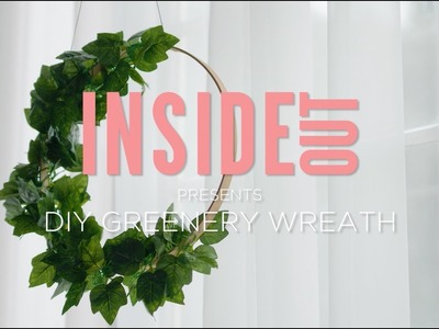 DIY Decorating: How to make a greenery wreath