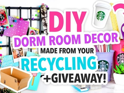 DIY DORM ROOM DECOR MADE FROM YOUR RECYCLING + GIVEAWAY! | @karenkavett
