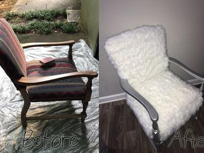 DIY Faux Fur Glam Accent Chair    GlamCraft'D