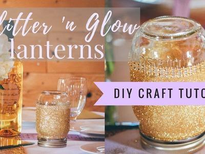 DIY GLITTER 'N GLOW LANTERNS | easy & ideal for weddings