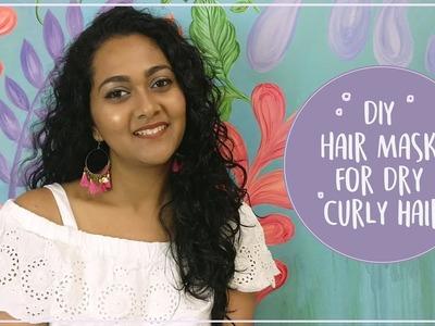 DIY Hair Mask For Dry Curly hair | Neha Bharadwaj
