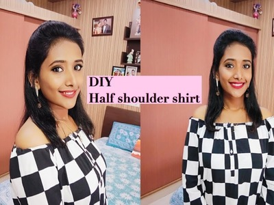 DIY: How to convert shirt into off shoulder | poojitha reddy