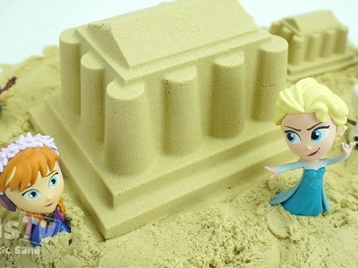 DIY How To Make Kinetic Sand Castle Fun Frozen with Johny Johny Yes Papa Nursery Rhymes Song